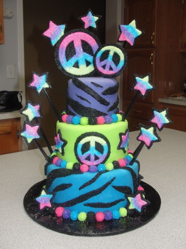 Cool Peace Signs Peace Sign Cake Cool Cakes Cake ideas