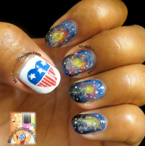 nails for 4thof July