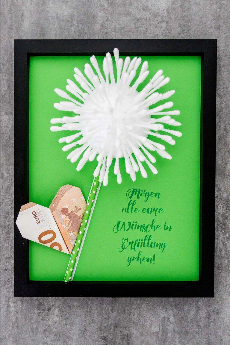 Pusteblume mit lieben Wünschen zur Hochzeit. Eine Pusteblume könnt ihr einfach basteln und zur Hochzeit überreichen. #Pusteblume 'Hochzeitsgeschenk #Hochzeitswünsche