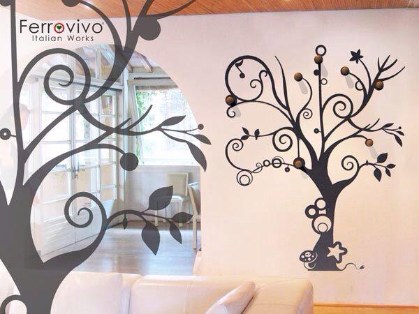 Attaccapanni Albero A Muro.Attaccapanni Albero Disegni Parete Pinterest