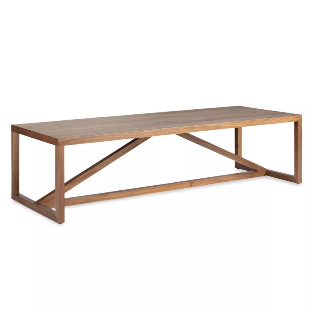 Strut Wood Coffee Table Coffee Table Wood Narrow Coffee Table Walnut Coffee Table [ 999 x 1000 Pixel ]