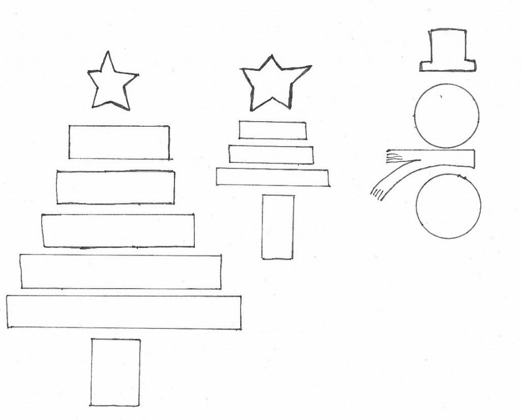 template for paper christmas ornaments from elsie marley: cut ...