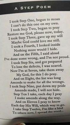 A Step Poem…….                     3/6/16