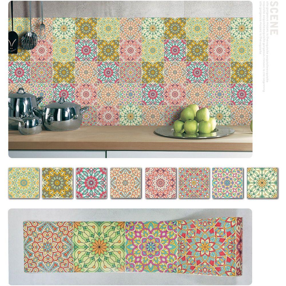 Self Adhesive Tile Art Wall Decal Sticker DIY Kitchen