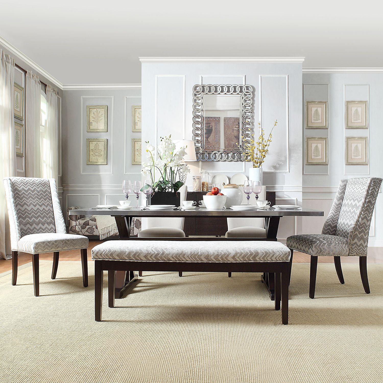 Catherine Grey Chevron Dining Bench by iNSPIRE Q Bold | Bench, Room ...