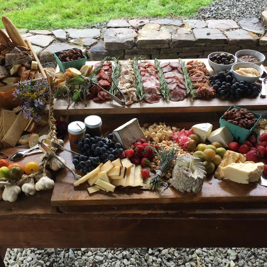 Rustic Cheese And Meat Board By Brooklyn Based Catering Company