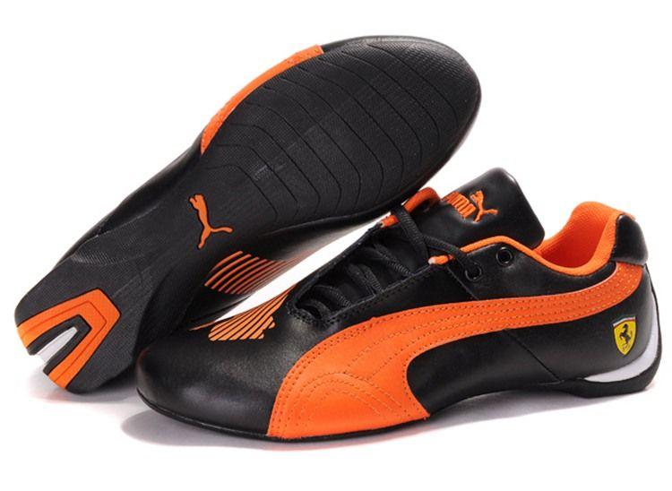 Women Puma Future Cat Big Ferrari - Black Orange  f58dadfcdf