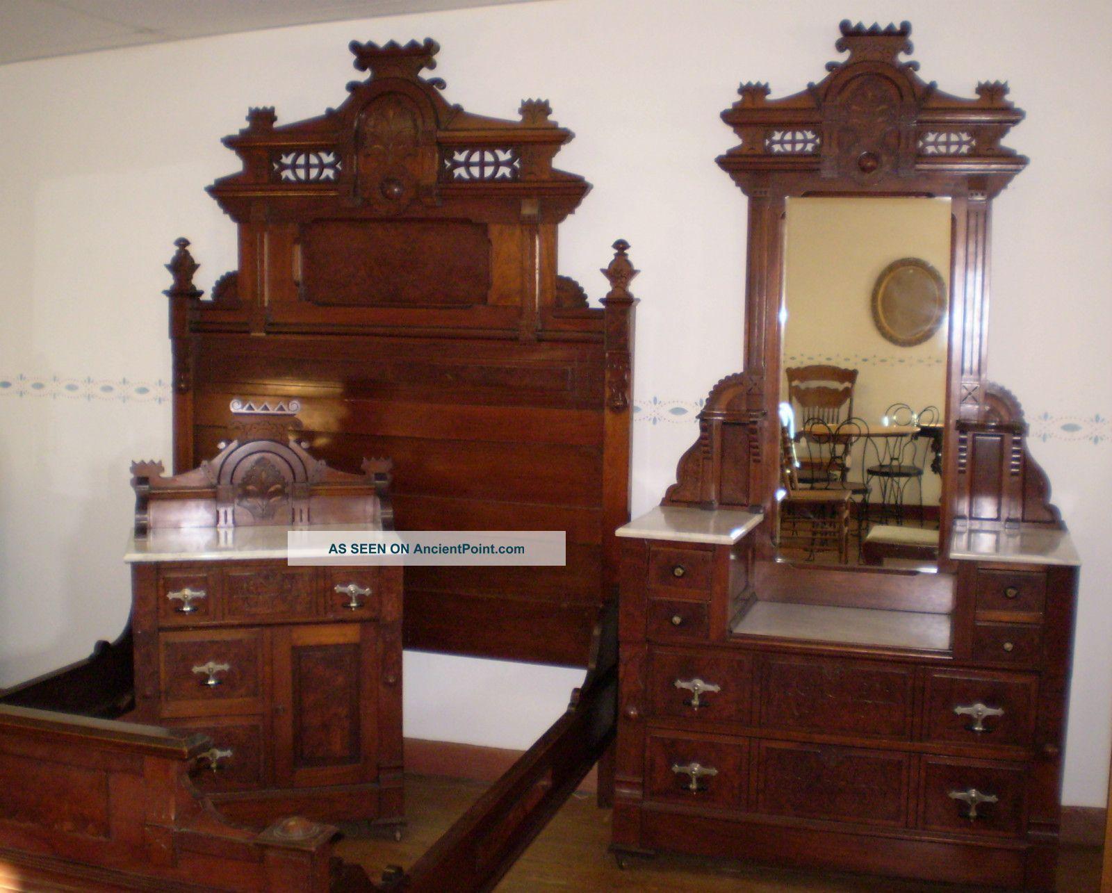 Antique Bedroom Sets 1930 Circa Antique Walnut & Burled