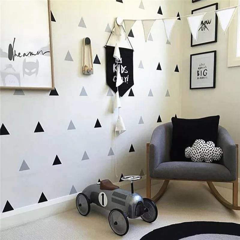 Photo of Triangle Wall Stickers – Metallic Silver / Small (78 items)