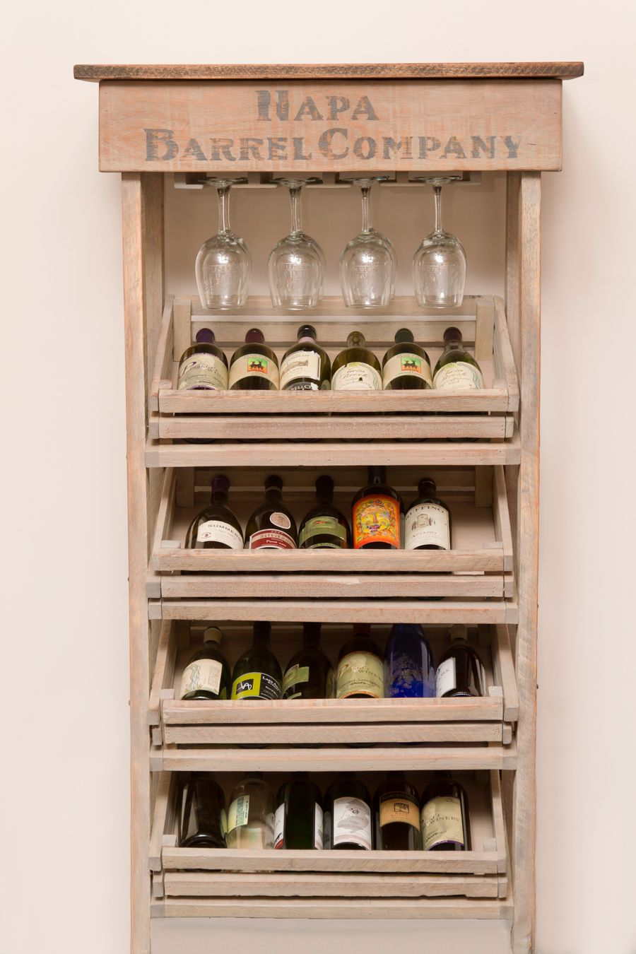 metal glass beautiful rack kitchen acrylic table wine size vineyard racks of tempered bottle plastic display clear large