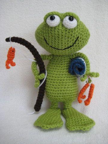 Amigurumi Frog Jimmy Toy Doll Animal Crochet Pattern Pdf Häkeln