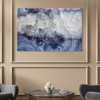 Oliver Gal Lunar Agate Abstract Wall Art Canvas Print Blue Gray Black Wall Art Canvas Art Prints Abstract Wall Art
