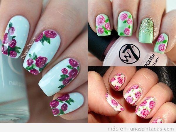elegant uas decoradas con rosas las flores ms romnticas en tus uas