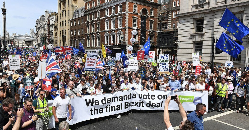Thousands Of Brexit Protesters March In London On Referendum