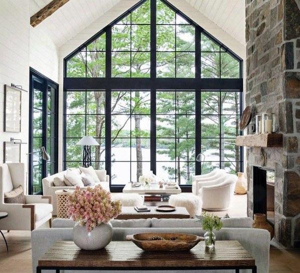 Top 70 Best Vaulted Ceiling Ideas High Vertical Space Designs Modern Farmhouse Living Room Decor Farm House Living Room Decor Home Living Room
