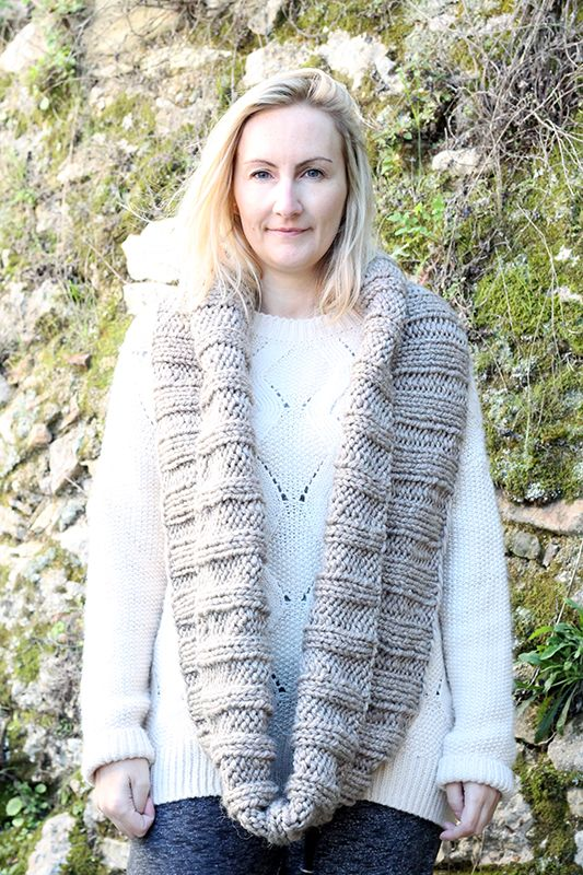 Easy Infinity Scarf Pattern | Infinity scarf knitting ...