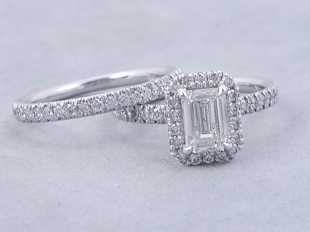 1 63 Ctw Emerald Cut Diamond Wedding Ring Set G Vs2 Includes A Matching