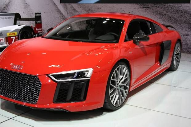 2016 Audi R8 Segment: Supercar Base price: $184,400 Available: End of March/early April You'll like this car if … Sedans are meant to be the most fun. The R8 Coupe, being introduced to Canada this spring along with the RS7, is equipped with a 5-2-litre V-10 engine, generates 540 horsepower, tops out at 320 km/h, and sprints from 0-100 km/h in 3.6 seconds. A rear carbon-fibre spoiler creates downforce on the axle, a feature designed to enhance performance and the athletic stance. With the…