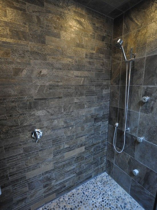 Black And Grey Slate Floor Wall Tiles Kitchen