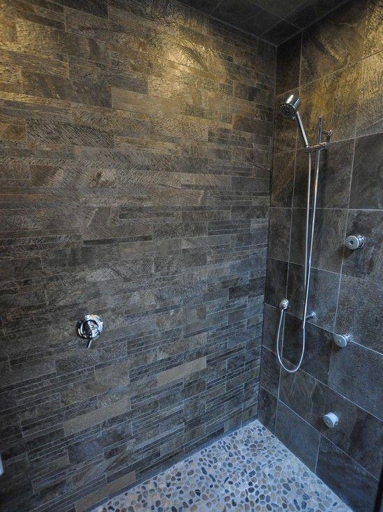 Black And Grey Slate Floor Wall Tiles Kitchen Shower Tile Master
