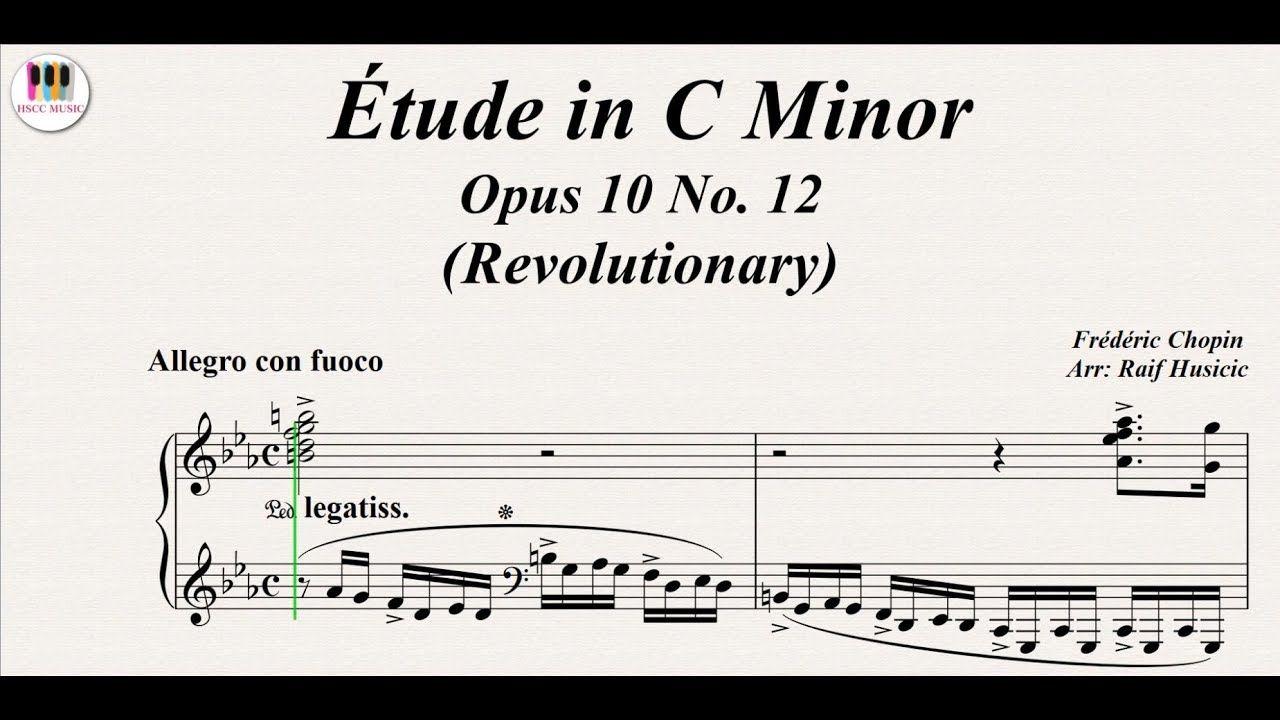 étude In C Minor Opus 10 No 12 Revolutionary Frédéric Chopin Piano Https Youtu Be V6cajpljxr4