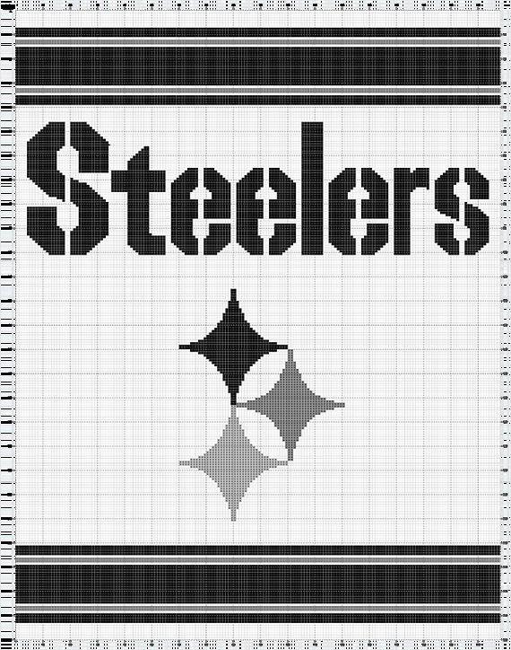 Steelers Crochet Afghan PATTERN by SewLoveToHook on Etsy | Things I ...