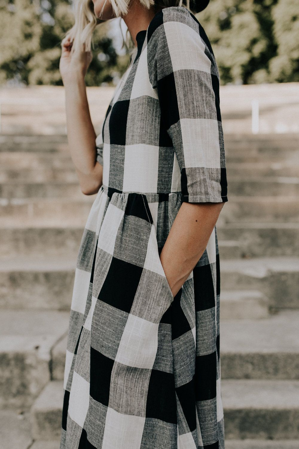 Maddie Buffalo Plaid Dress In 2020 Buffalo Plaid Dress Winter Fashion Outfits Plaid Dress Outfit