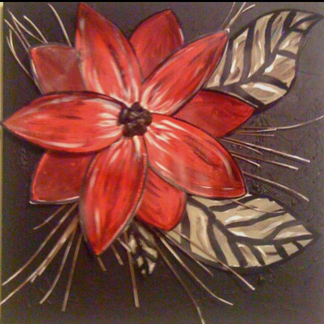 Diy wall art spray canvas solid color paint flower or for Diy flower canvas wall art
