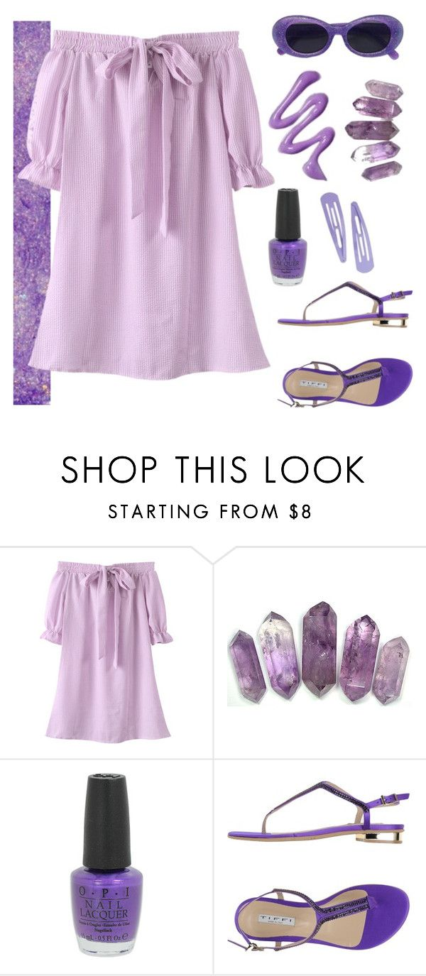 """""""Purple summer"""" by gb041112 ❤ liked on Polyvore featuring OPI and TIFFI"""