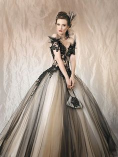 25 Gorgeous Black Wedding Dresses | Black wedding dresses, Wedding ...