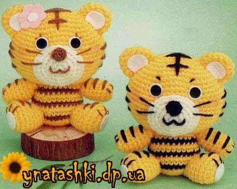 Amigurumi Tiger Free Crochet Pattern Tutorial Chart