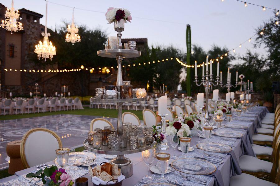 Glamourous Fairy Tale Wedding Reception SeatingOutdoor Glamourous