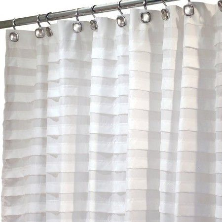 Interdesign Tuxedo Shower Curtain White Target Fabric Shower