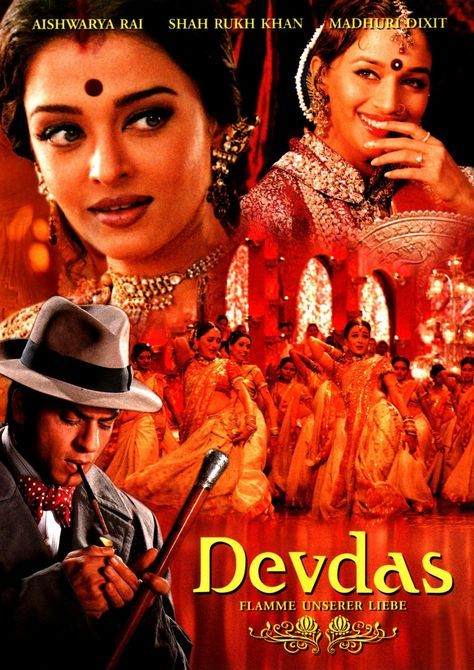 Devdas 2002 Director Sanjay Leela Bhansali After His Wealthy Family Prohibits Him From Marrying The Wom Bollywood Posters Bollywood Movies Hindi Movies