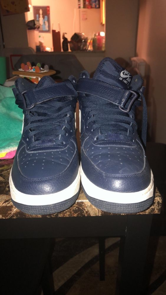 Nike Air Force 1 High Navy Blue #fashion #clothing #shoes