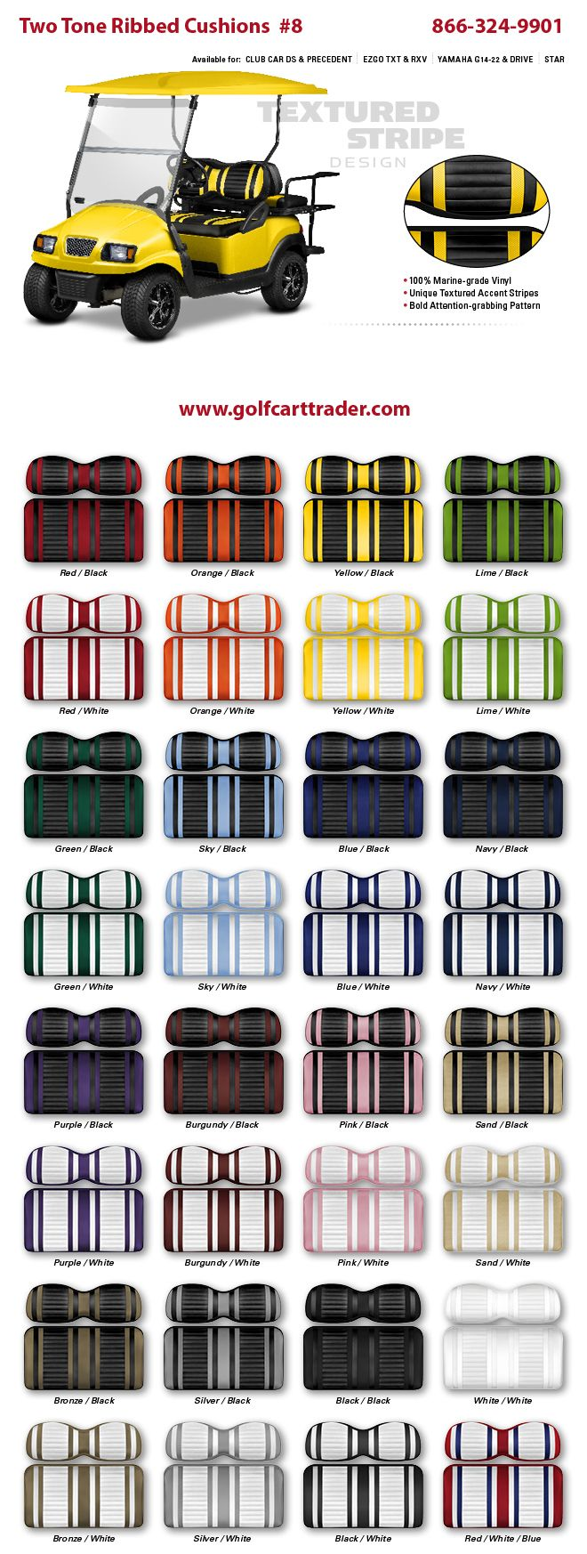 Custom seats 8 golf cart custom seat cushions and seat covers here youll find just about every golf related accessory that is made for golf carts repair and maintenance items special use items and lots of jeuxipadfo Choice Image