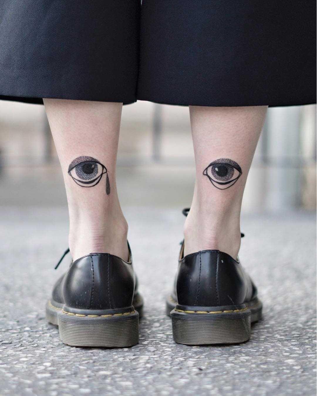 Blackwork eye tattoos by Dżudi Bazgrole (With images