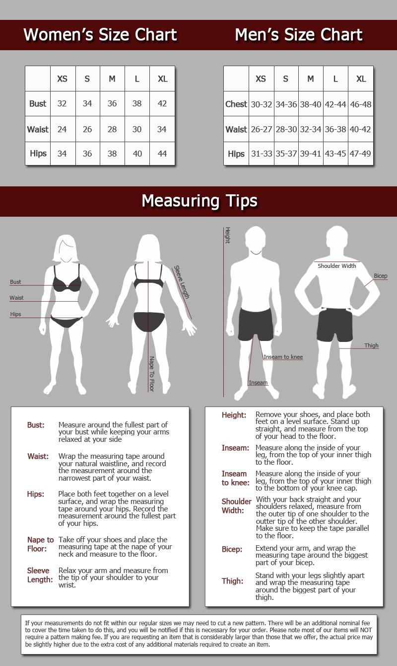 Size Chart Women S Size Chart Xs S M L Xl Bust 32 34 36 38 42 Waist 24 26 28 30 Womens Size Chart Pirate Shirts Size Chart