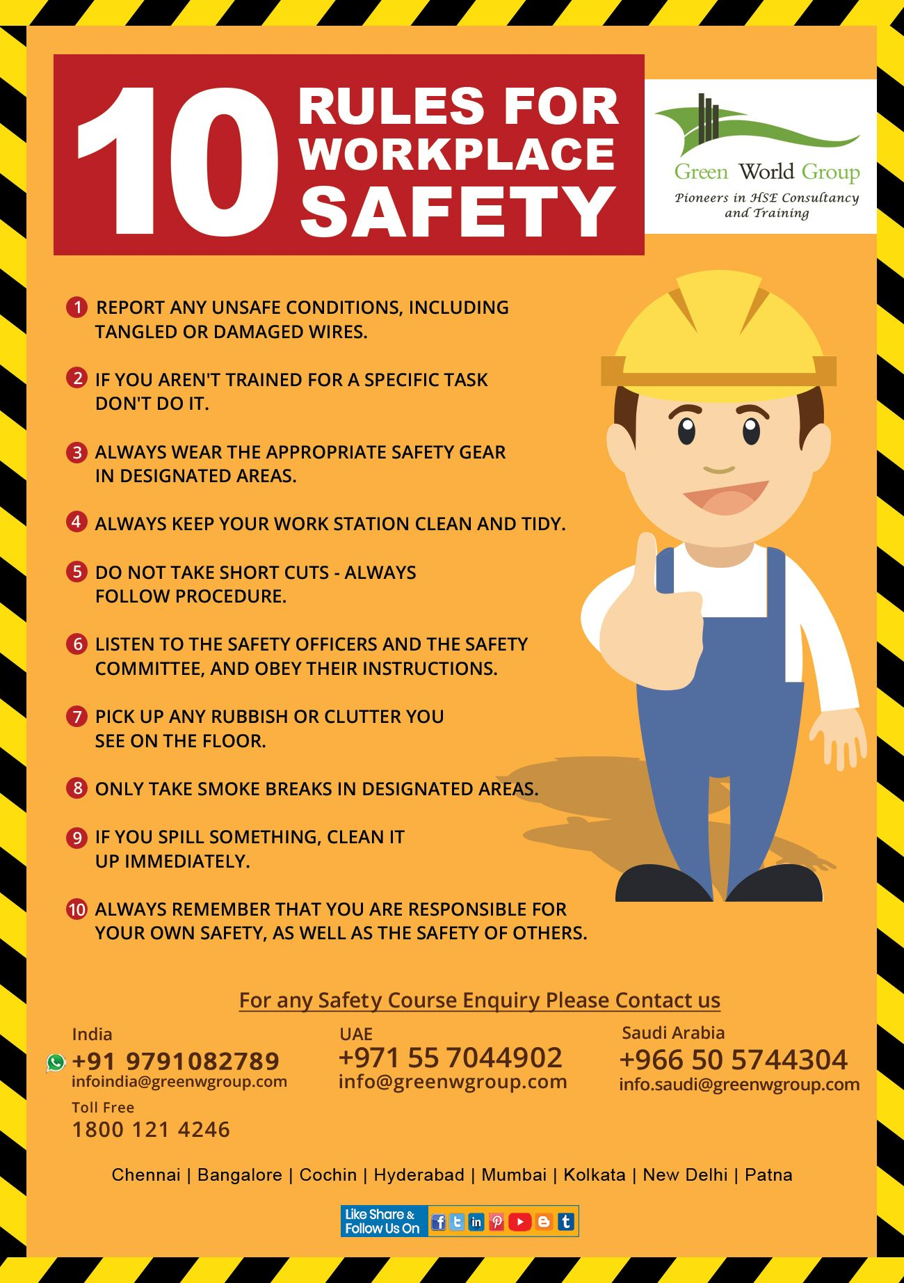 A workplacesafety culture and these 10 tips can help