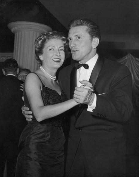 Kirk Douglas and Anne Buydens....