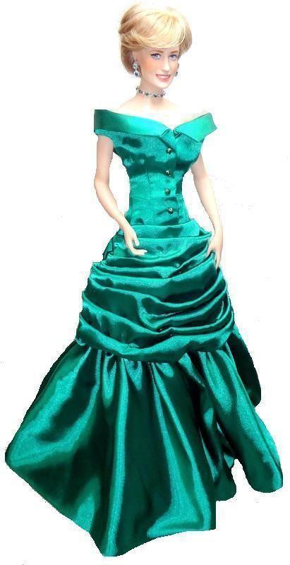 OOAK Franklin Mint Princess Diana Porcelain Doll \'87 Emerald Ball ...