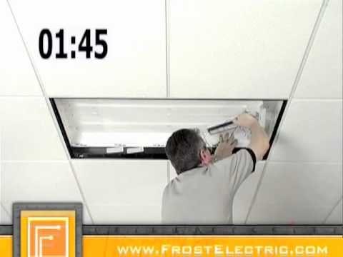 Cooper Lighting How To Install Metalux OpticaHP Retrofit Kit Efficient  Office Lighting   YouTube