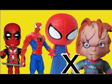 Marvel Avengers Hopping Headz Spider Man Homem Aranha Hulk Coisa X Chuck...