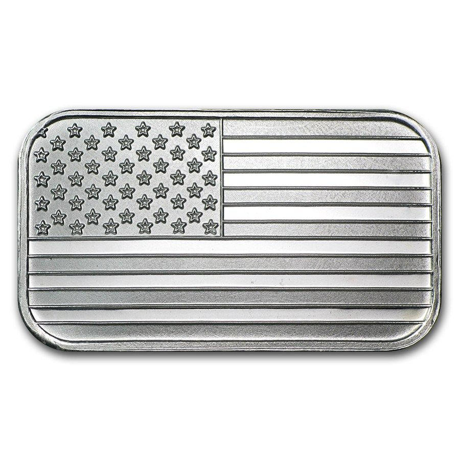 1 Oz Silver Bar American Flag Design One Ounce Silver Bullion Bars Apmex Silver Silver Bars Silver Spot Price Silver Bullion