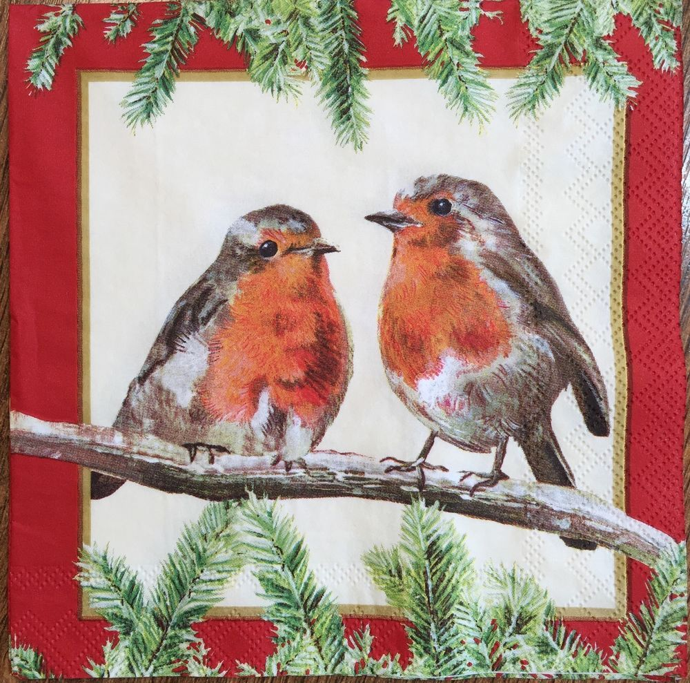 Robins Kitchen Garden City 20 Paper Napkins Decoupage Collection Bird On A Tree Robins Garden