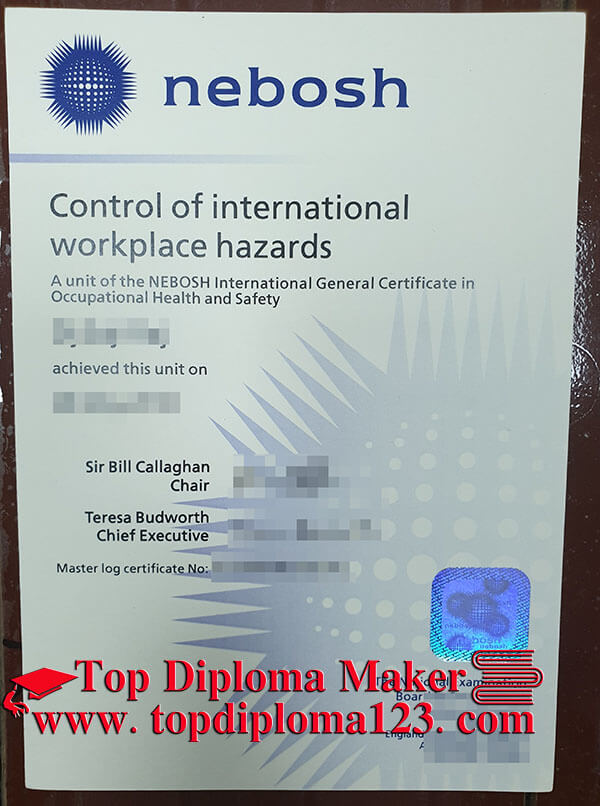 Buy fake NEBOSH certificate, NEBOSH International General