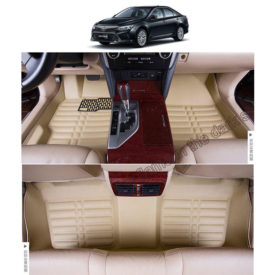 Free Shipping Leather Car Floor Mat Carpet Rug For Toyota Camry Xv50 2012 2013 2014 2015 2016 2017 Daihatsu Altis Toyota A Toyota Camry Daihatsu Car Floor Mats