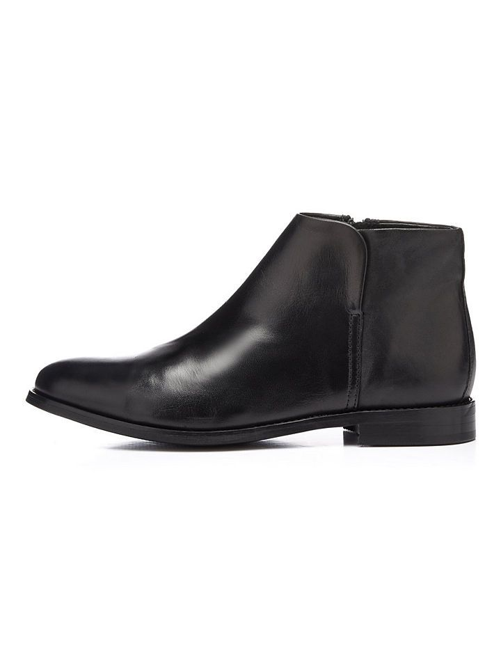 Low-Cut- Stiefel, schwarz, Black Bianco