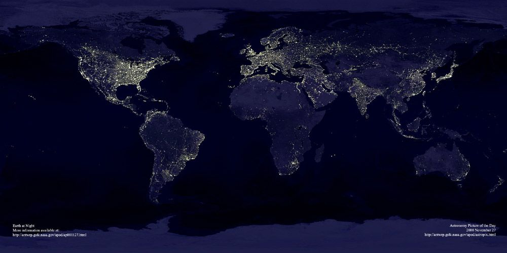 Map Of Africa From Space.8 Maps That Will Change The Way You Look At Africa العربية Earth