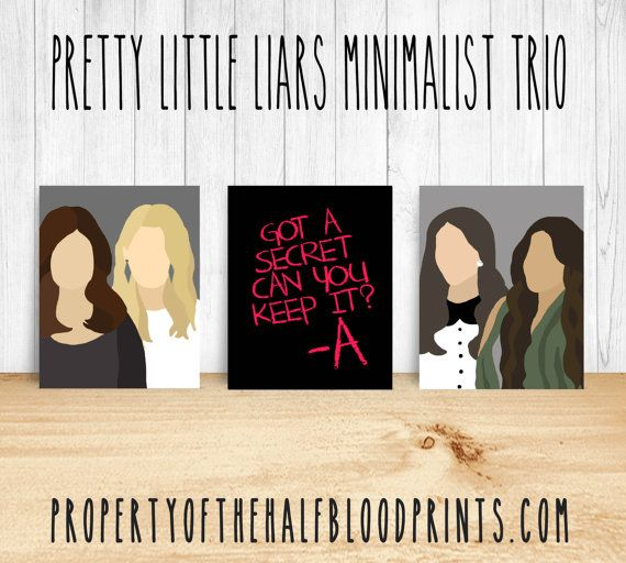 Pretty Little Liars Minimalist Art Trio  by TheHalfBloodPrints